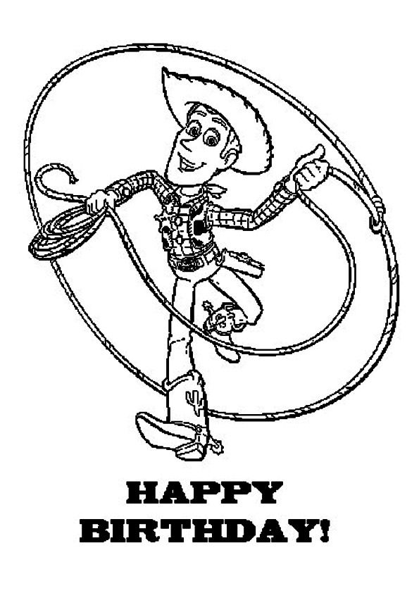 Woody wishes coloring pages