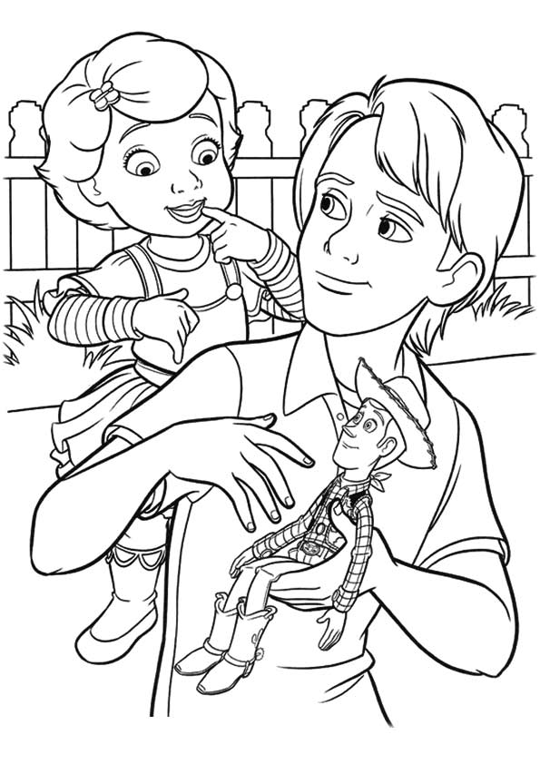 Andy Bonnie coloring pages