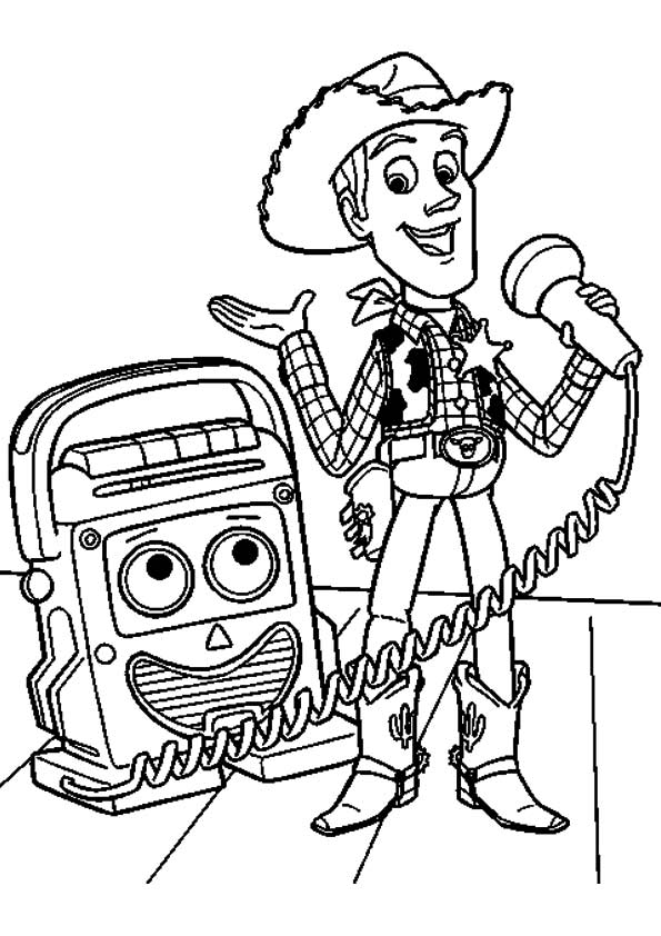 Microphone Talk coloring pages