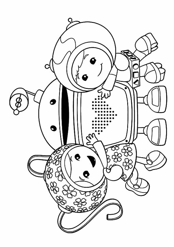 Milli, Geo & Bot coloring pages
