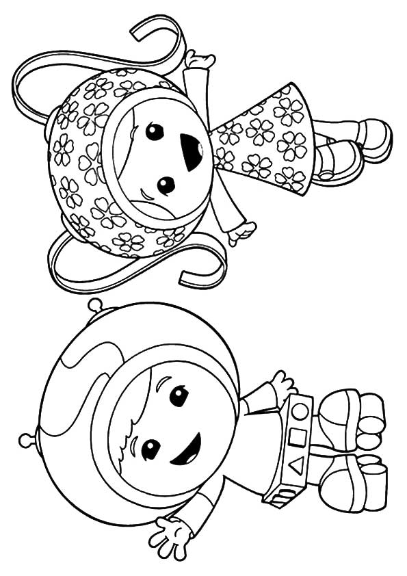 Milli & Geo coloring pages