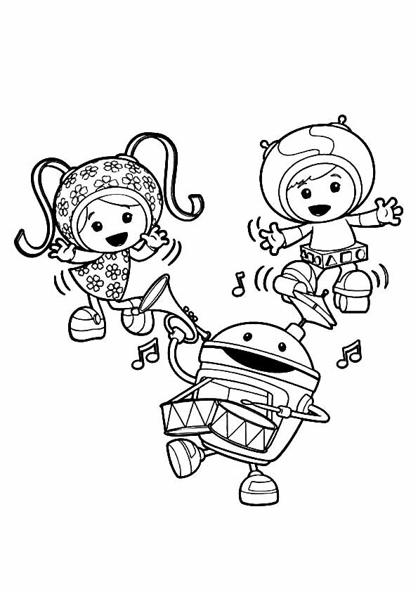 Team Umizoomi Celebrating coloring pages
