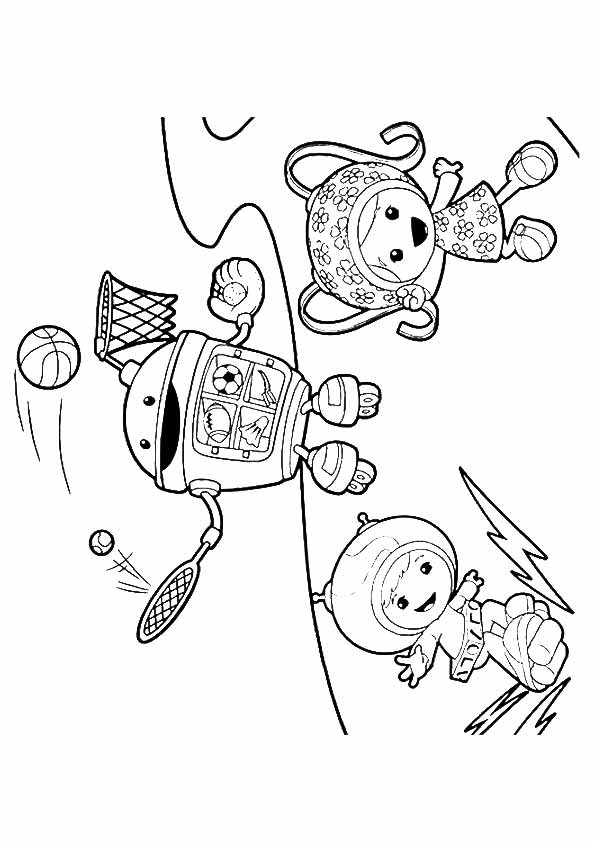 Umizoomi Playing coloring pages