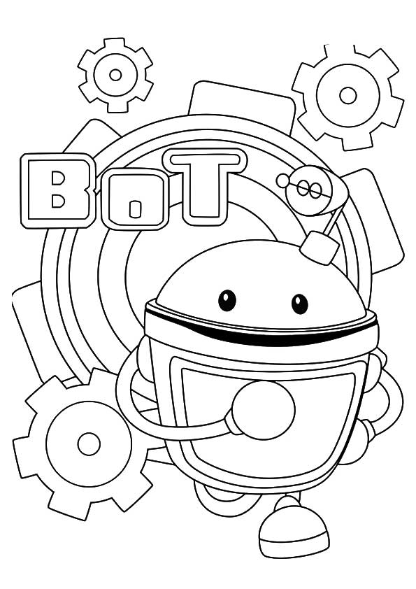 The a bot the robot coloring pages