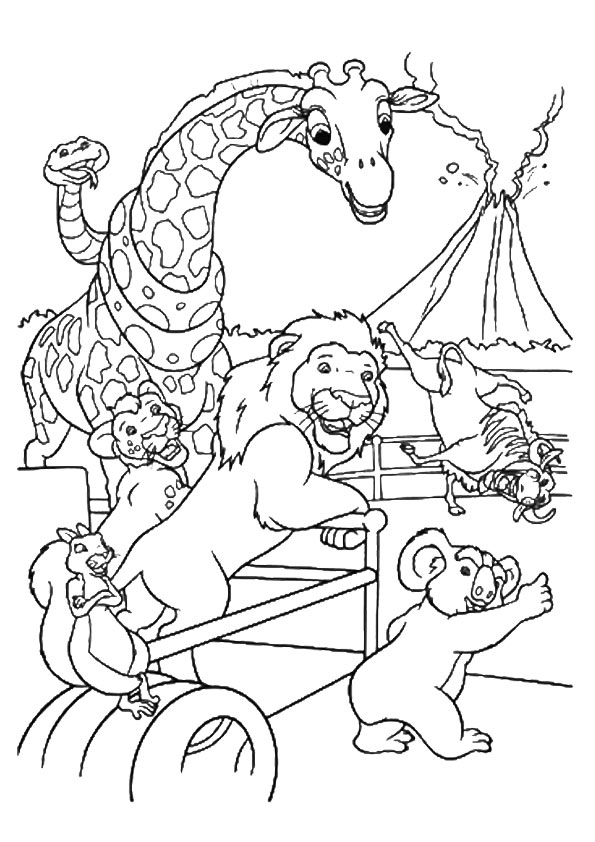 Wild Safari coloring pages
