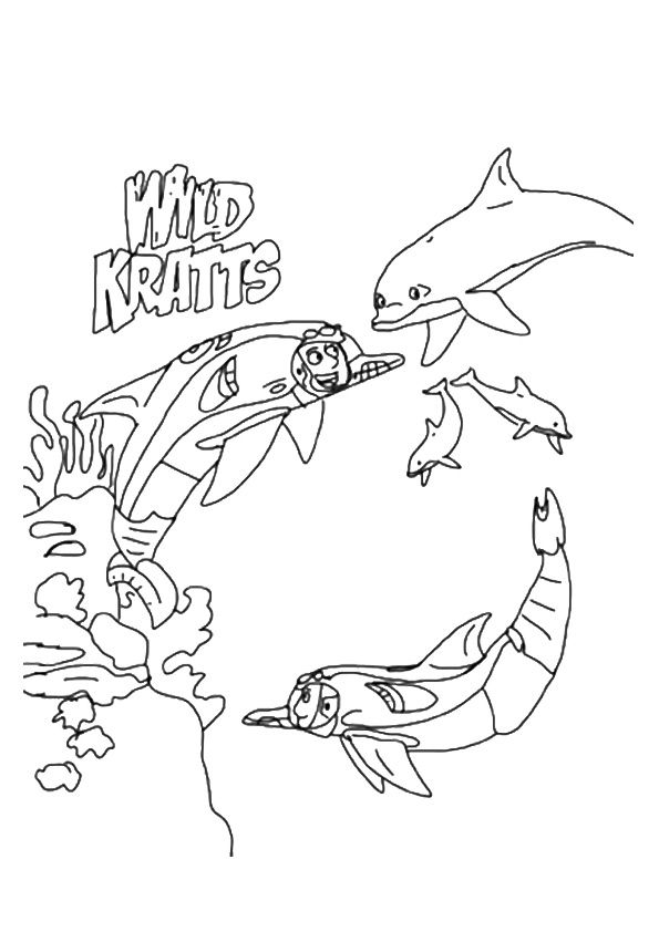 Underwater Wild Kratts coloring pages