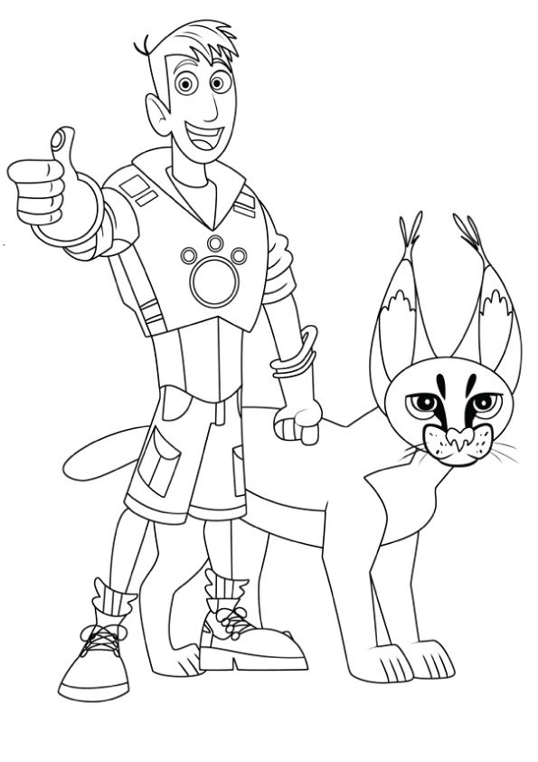 Martin and Cougar coloring pages