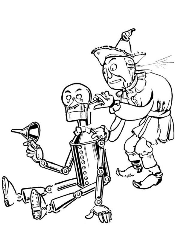 Tinman coloring pages