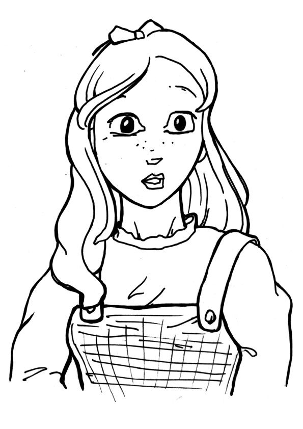 Dorothy Gale01 coloring pages