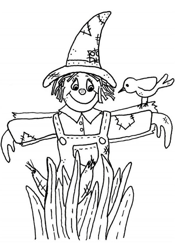 Scarecrow01 coloring pages