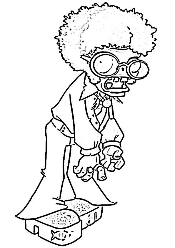 Disco Zombie coloring pages