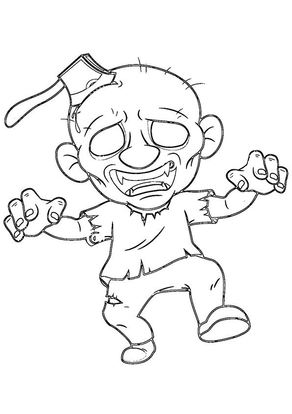 Fast Zombie Axed coloring pages