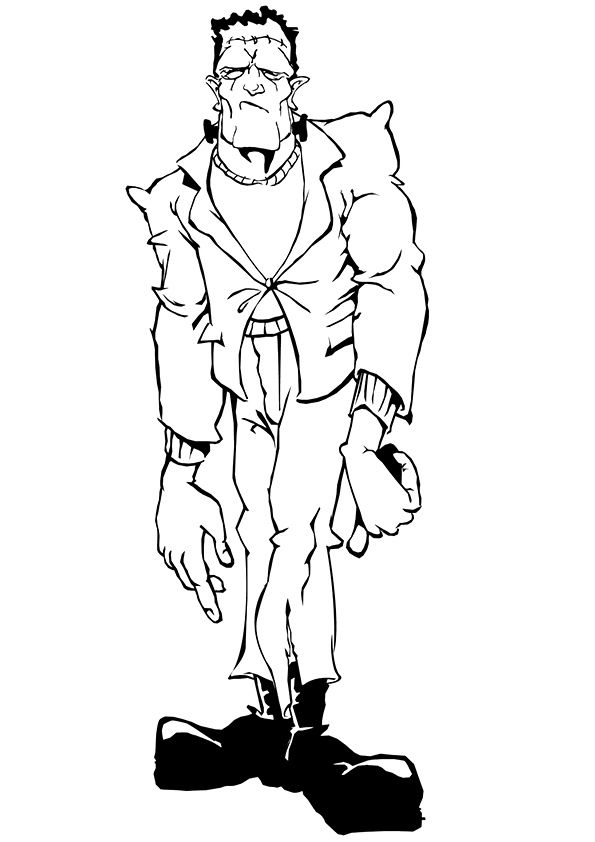 Frankenstein coloring pages