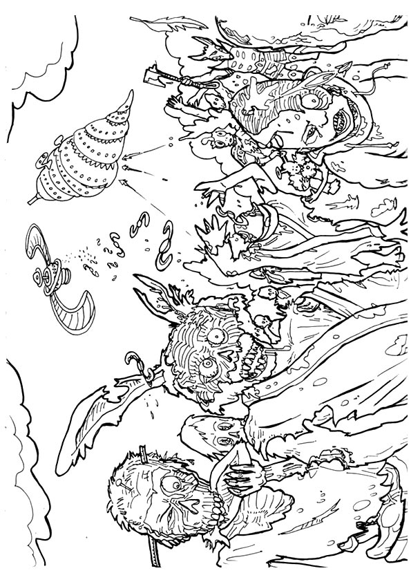 Gang Of Zombies coloring pages