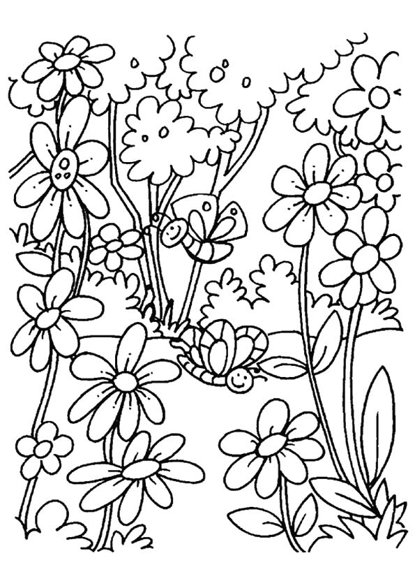 Blooming Flowers coloring pages
