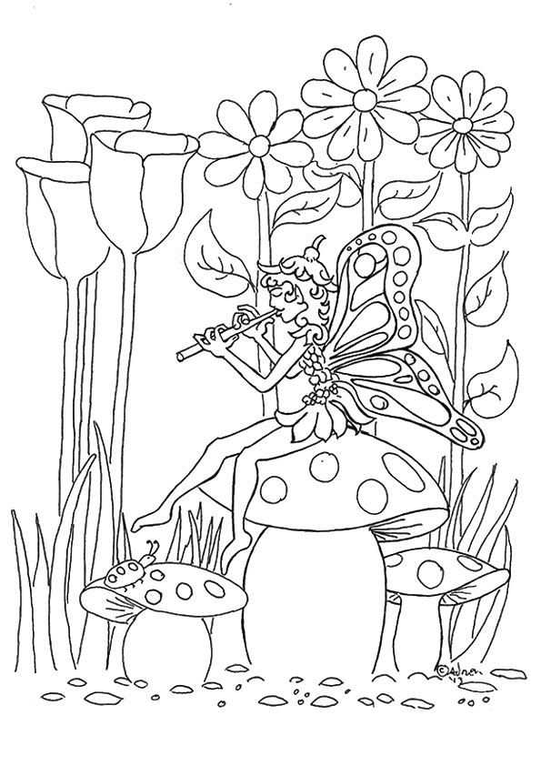 Fairy Flower coloring pages