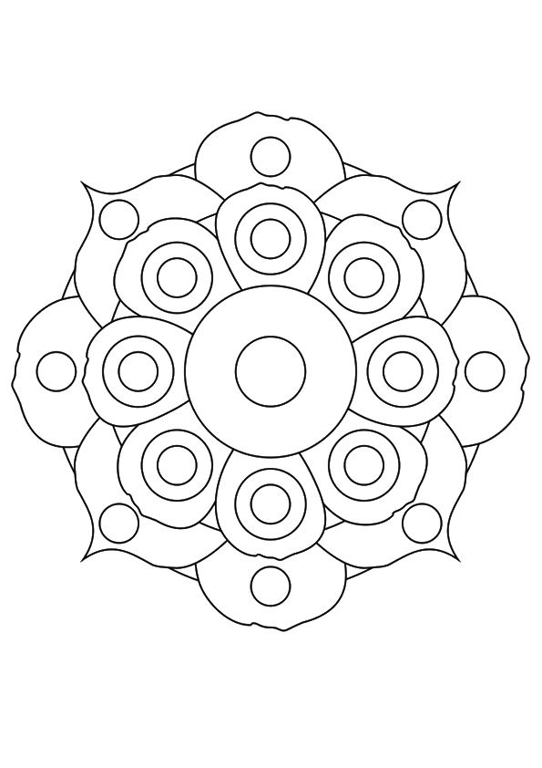 The Flower Mandala coloring pages