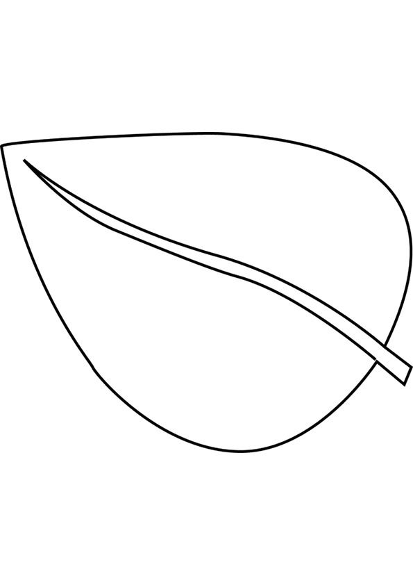 Anthurium Leaf coloring pages