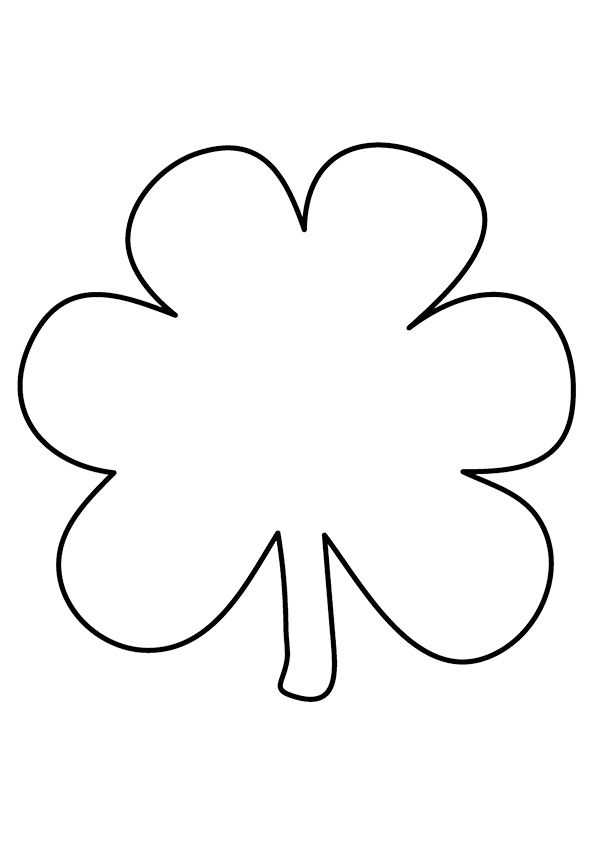 Clover Leaf coloring pages