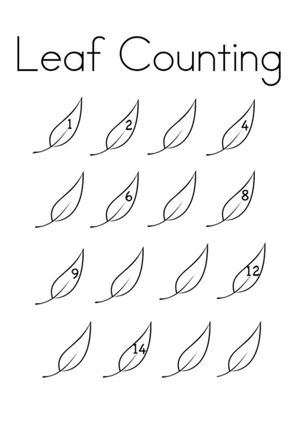 Leaf Counting coloring pages