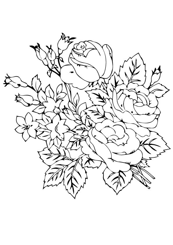 Beautiful Roses Flower coloring pages