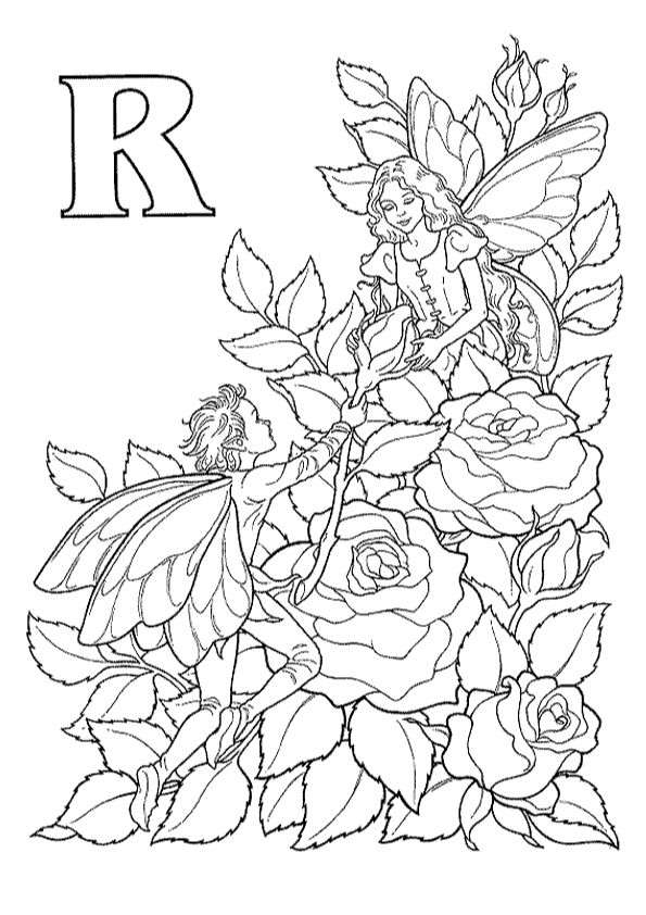 R for rosas coloring pages