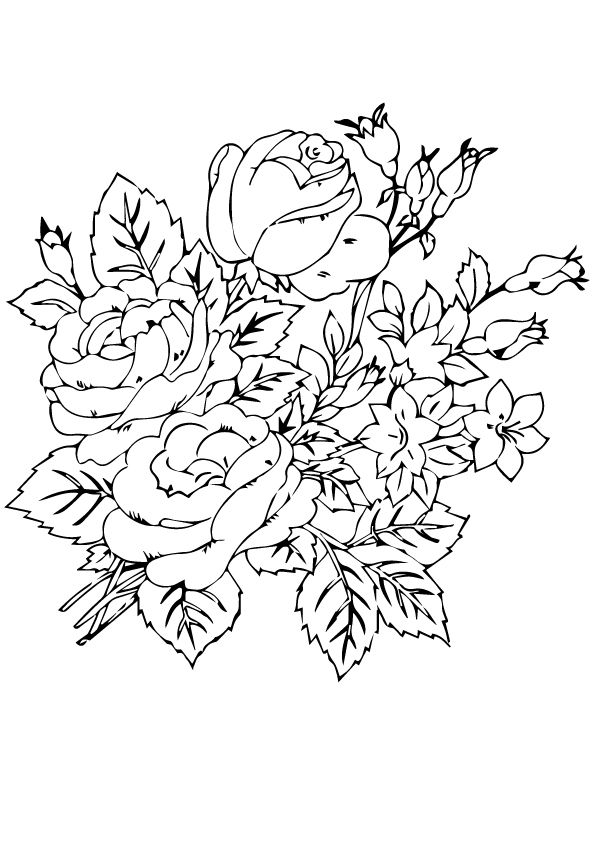 group of rosas coloring pages