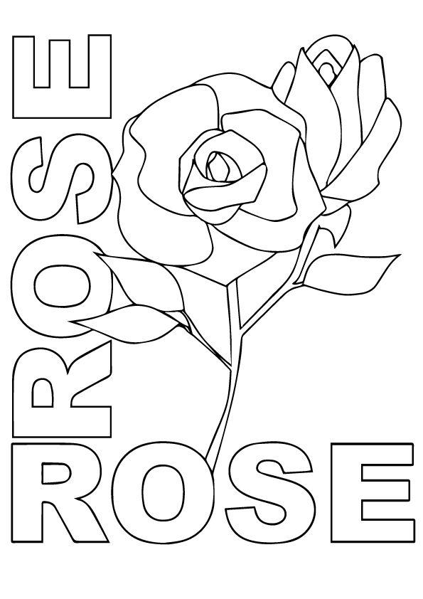 r rosas coloring pages