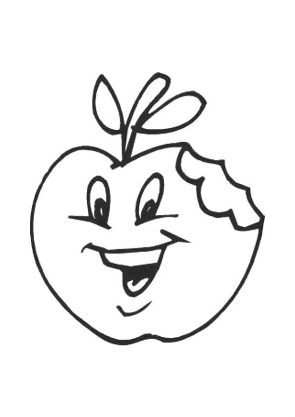 Half Eaten Apple coloring pages