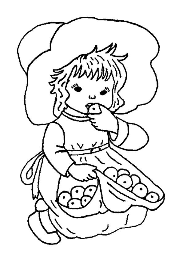 Little Apple Picker coloring pages