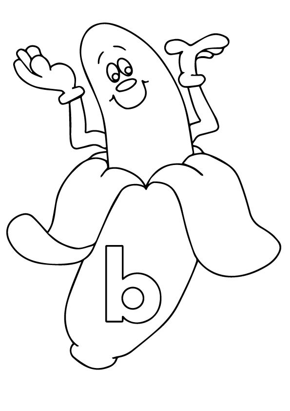Peeled Banana coloring pages