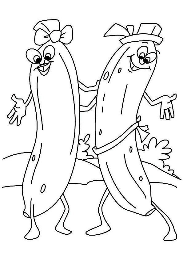 2 Dancing Banana coloring pages
