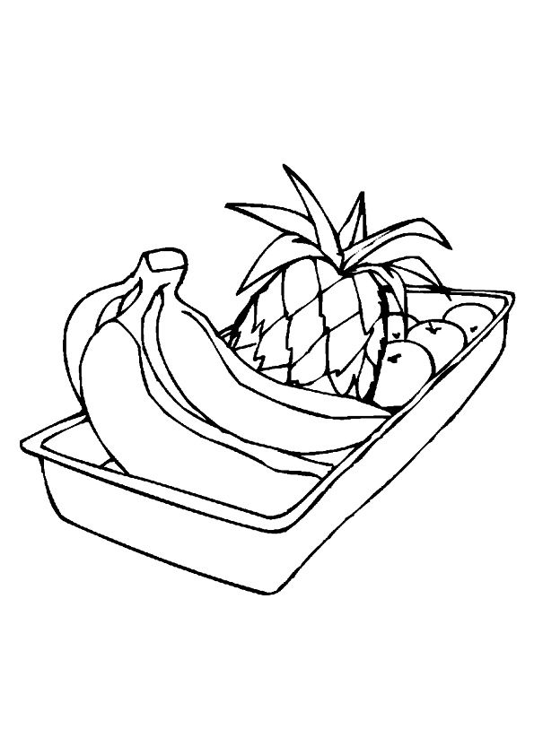 Banana in Tray coloring pages