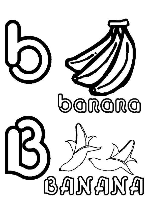 Banana in Both Cases  coloring pages