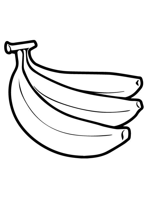 Free Printable Banana Coloring Pages Banana Coloring