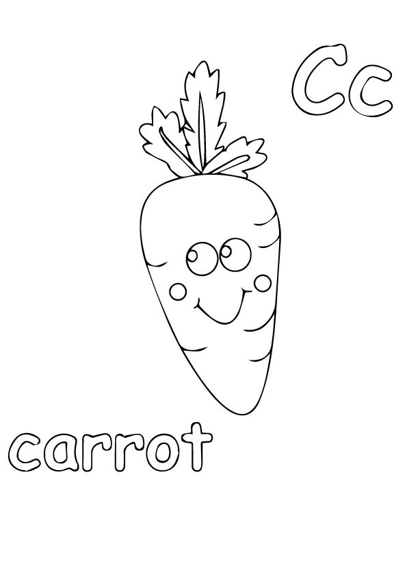 Carrots coloring pages