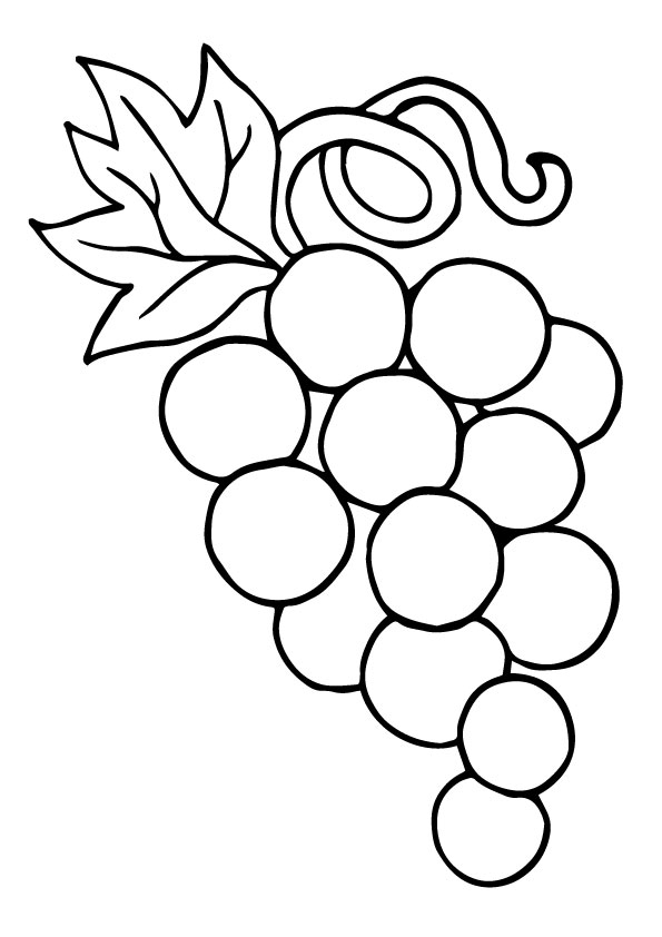 Ring on Grapes coloring pages