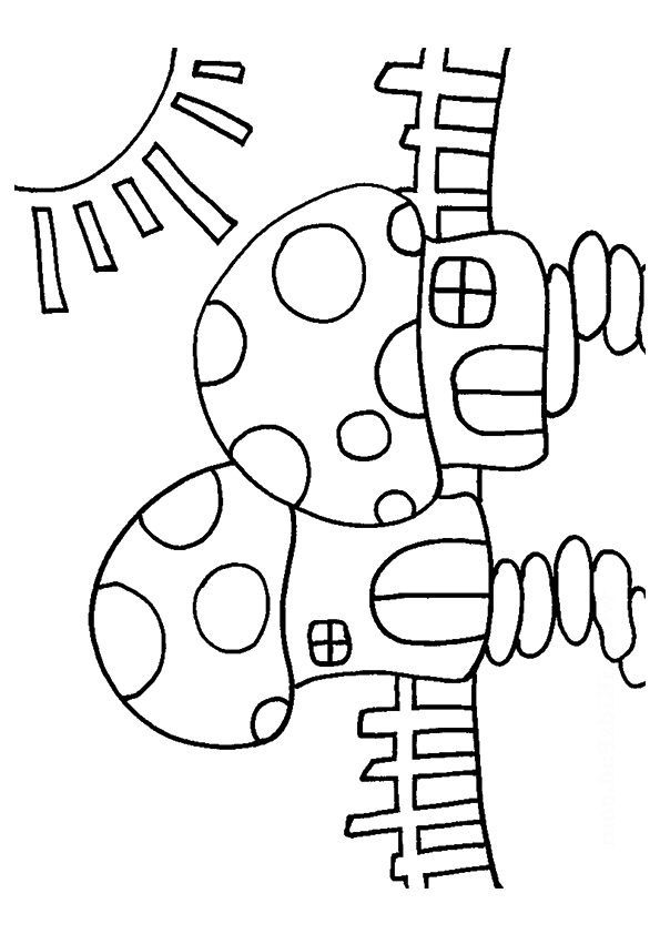 Mushroom Houses coloring pages