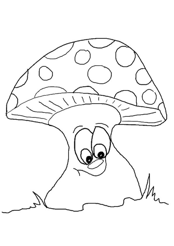 Tree Like Mushroom coloring pages