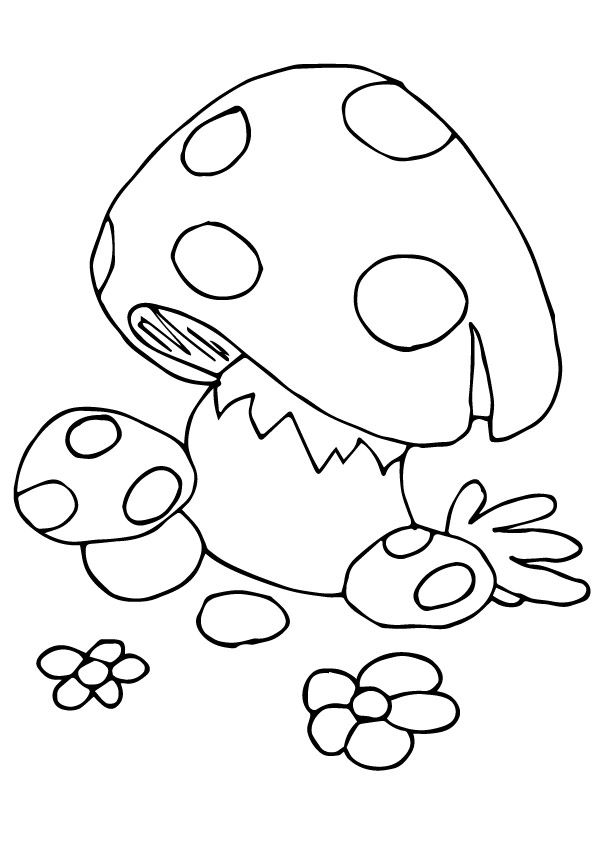 Baby Mushroom coloring pages