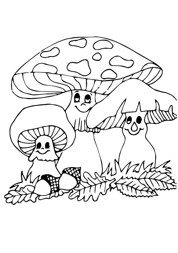 Baby Face Mushroom  coloring pages