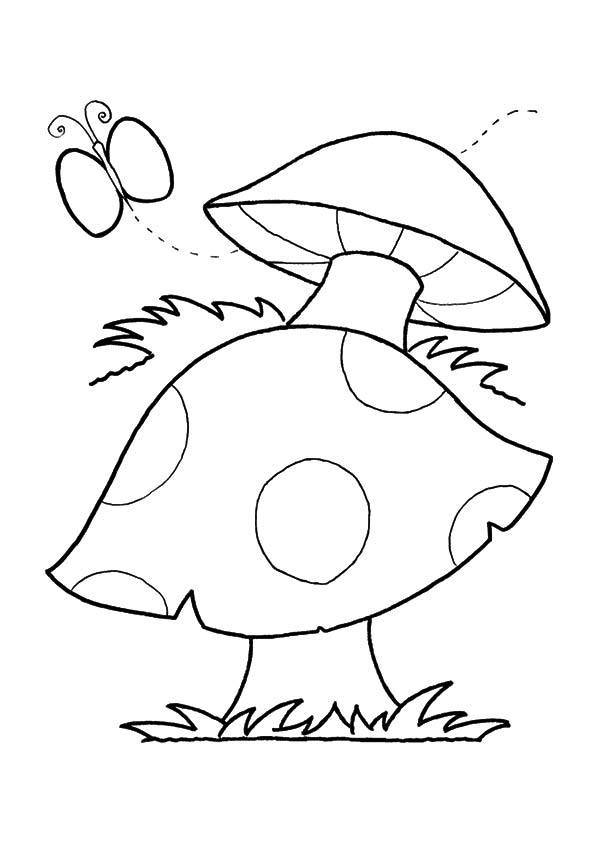 Butterfly Mushroom coloring pages