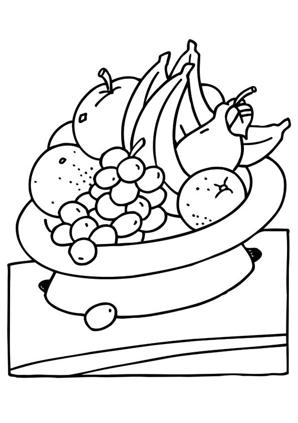 Bowlful Orange coloring pages