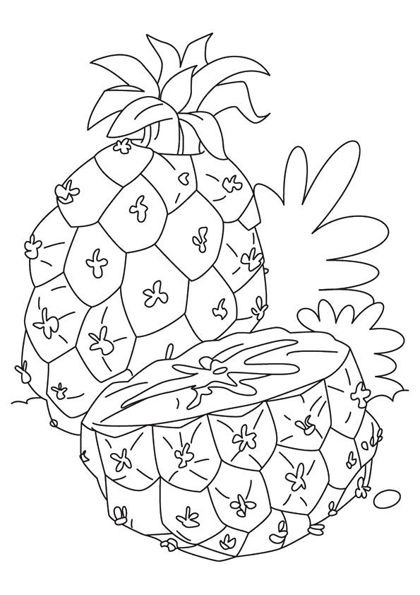 Juicy Pineapple coloring pages