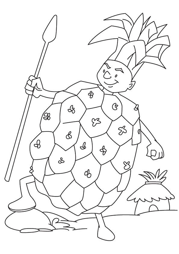 Pineapple King coloring pages