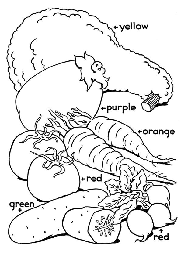Bunch of Vegetables coloring pages