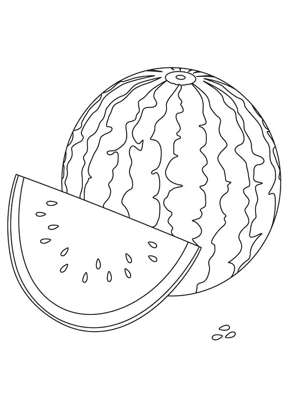 Sweet Watermelon coloring pages