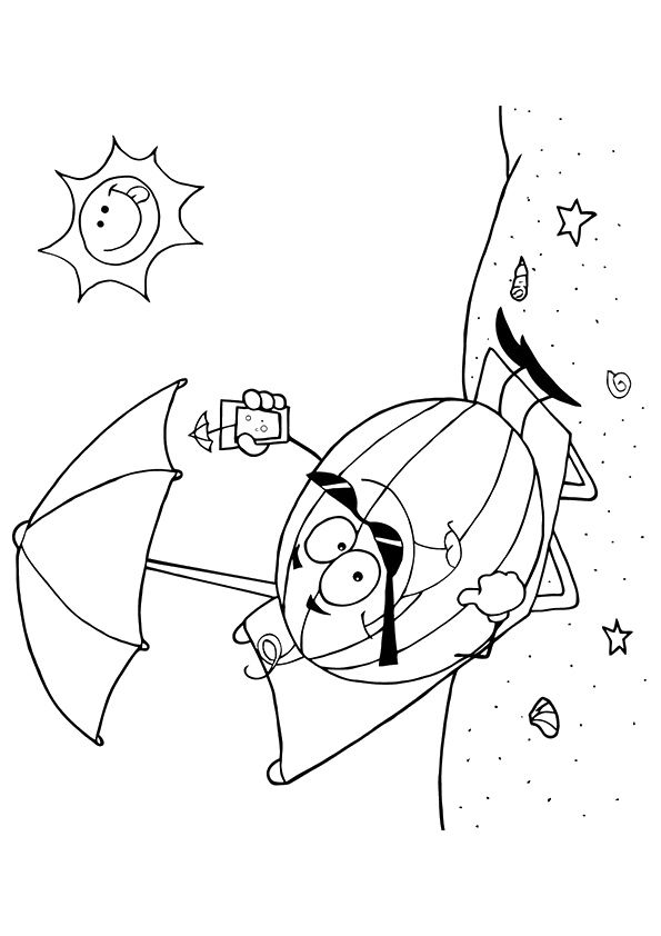 Watermelon at Beach coloring pages