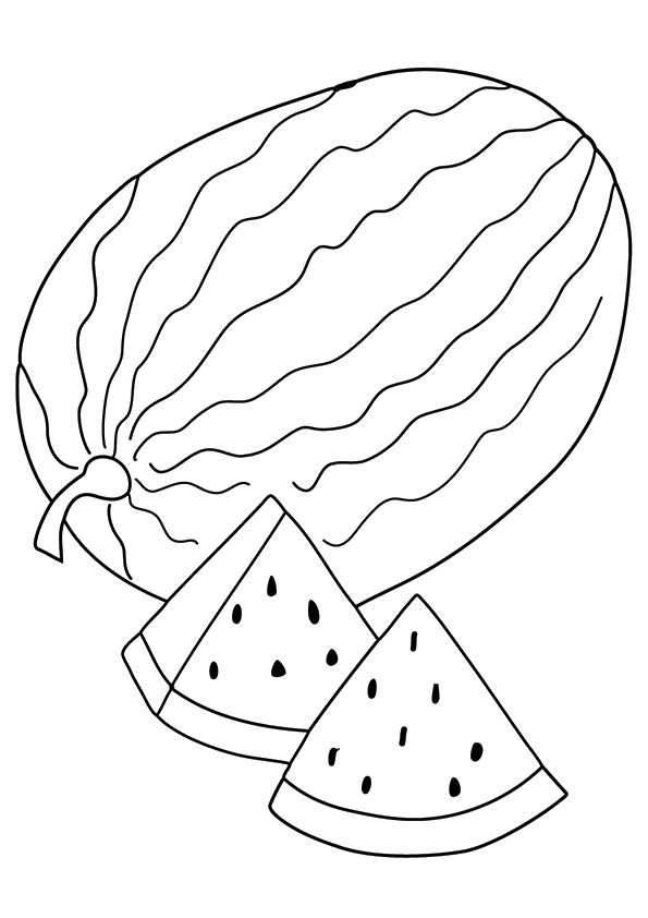 Watermelon Slices coloring pages