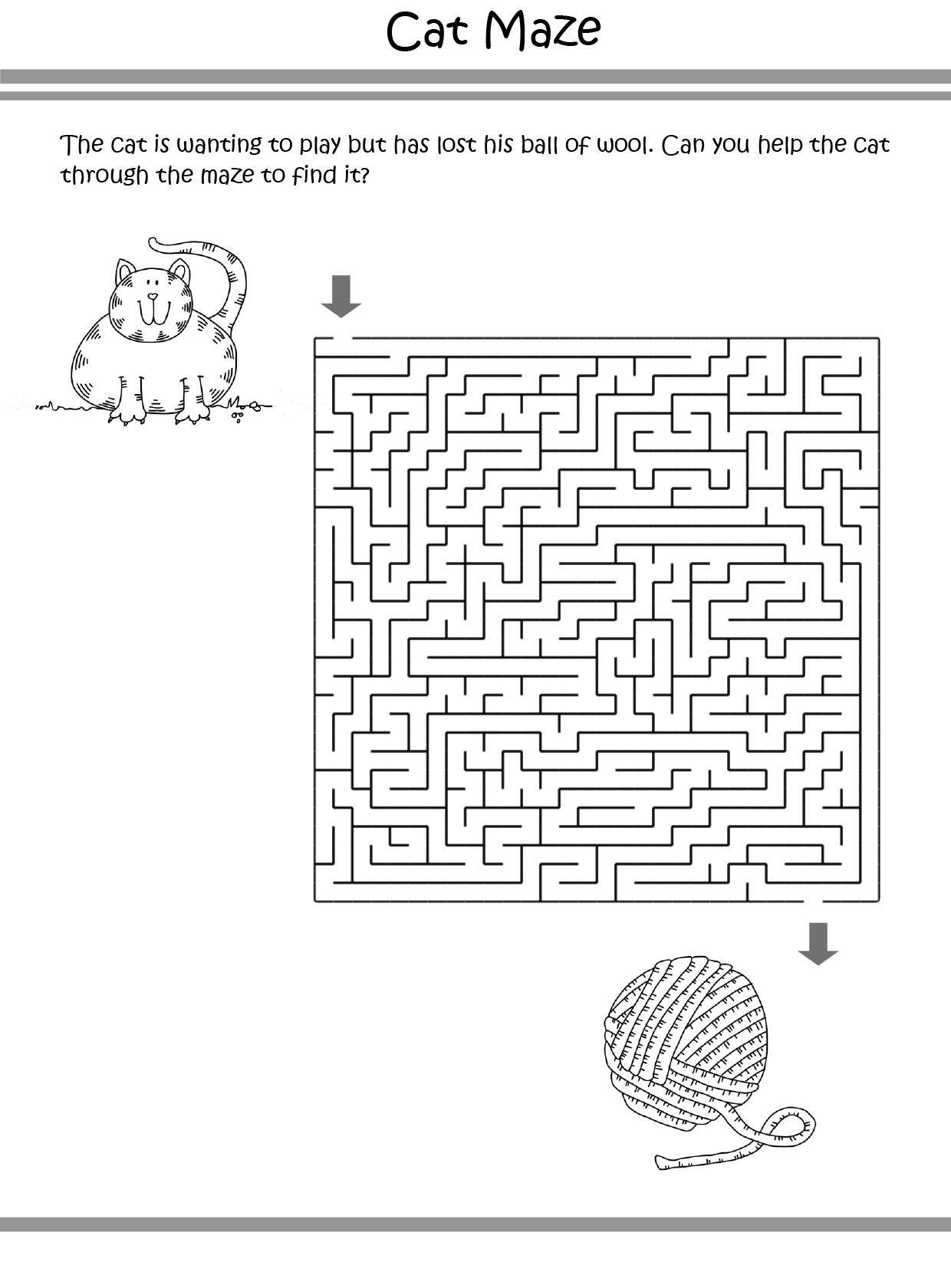 Cat Puzzle coloring pages